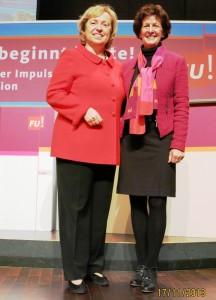 Notburga Kunert mit Prof. Dr. Böhmer
