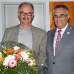 Gratulation an Norbert Büscher durch Alfred Haas
