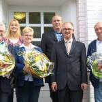 l.: Kämmerer Günter Schlimbach, Personalratsvorsitzende Kerstin Zeilinger, Mia Trömpert, Personalsachgebietsleiter Heinz Stamm, Bürgermeister Norbert Büscher und Wilfried Potz)