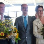 Bürgermeister Norbert Büscher mit seinen Stellvertretern Peter Iffland (SPD) und Jutta Manstein (CDU).
