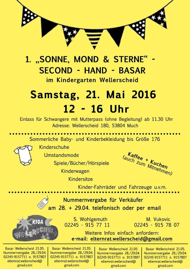 1 second hand basar kindergarten wellerscheid mein much for Second hand bruchsal und umgebung