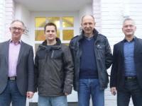 (v. li. Norbert Büscher, Timo Kautz, Markus Büscher, Stefan Mauermann)